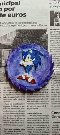Medalha do Sonic - pintada à mão (nova)