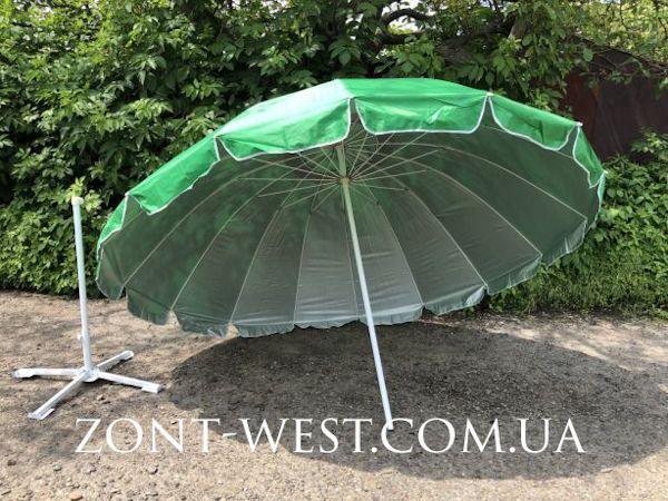 Зонт торговый садовый 2,5м, 3м, 3,3м, 3,8м