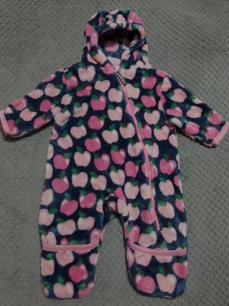 Ползунок-человечек флисовый для девочки 6-9 месяцев, фирмы Hatley