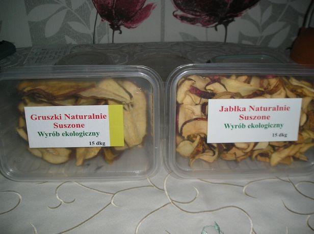 Jabłka i gruszki suszone w warunkach naturalnych