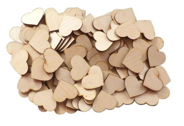 SERCE 100 szt serca serduszka drewno drewniane wesele