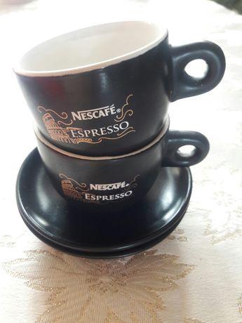 Набор кофейных чашек с блюдцами ''Нескафе''