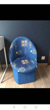 Fotel kubełkowy granatowy