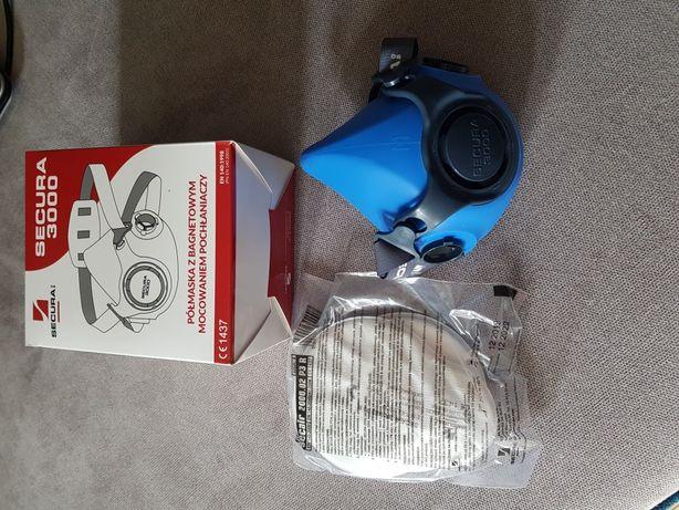 Półmaska Secura 3000 + filtry Secair 2000.02 P3R komplet