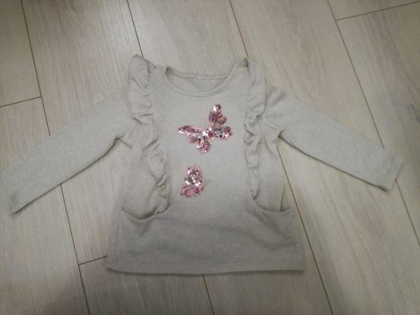 Sweter  motylki 104 cm