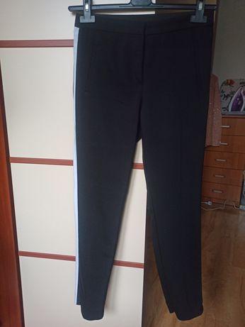 Czarne spodnie z lampasami rozmiar M Zara Nowe