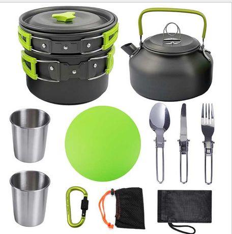 Набор туристической посуды с чайником HALIN GL-308-5