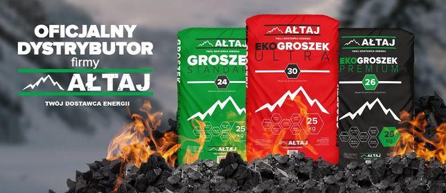 Ałtaj Ekogroszek Premium, workowany po 25 kg.