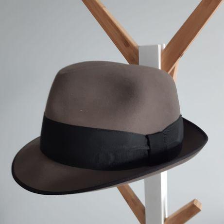 Piękny męski filcowy kapelusz marki Dermotta Wien, lata 50' klasyka.