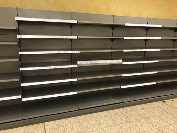 Regaly sklepowe regał sklepowy metalowy magazynowy półkowymi linde teg