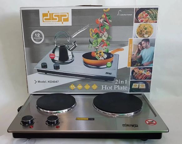 Настольная плита бытовая DSP KD-4047, компактная кухонная, Электроплит