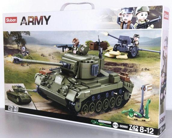 """Конструктор 2 в 1 Sluban M38-B0860 """"Танк США M26 Першинг"""", 742 дет"""