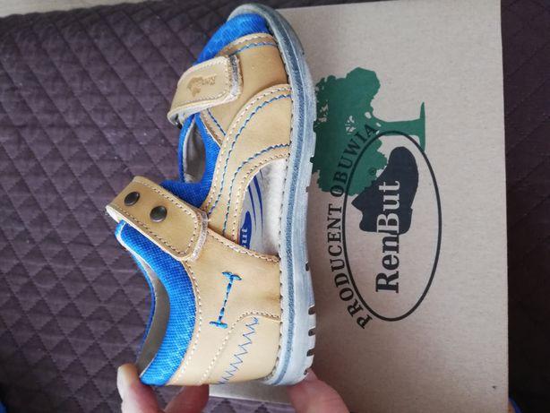 Nowe sandałki skórzane RenBut r. 27, całkowita długość wkładki 16,8 cm