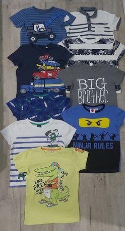 T-shirty/bluzki z krótkim rękawem dla chłopca 9szt/110