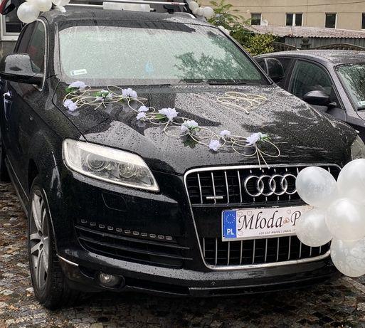 Ozdoby na auto ślub
