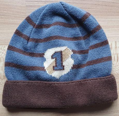 Bardzo ciepła czapka chłopięca wełniana - rozmiar: 54-56