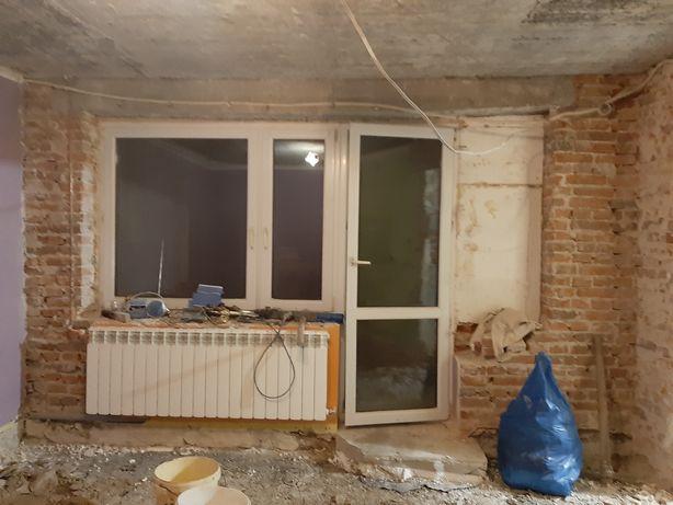 Okno używane balkonowe