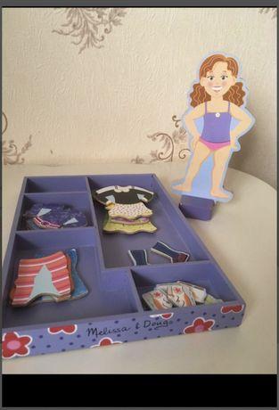 Магнитный набор, одежа кукла