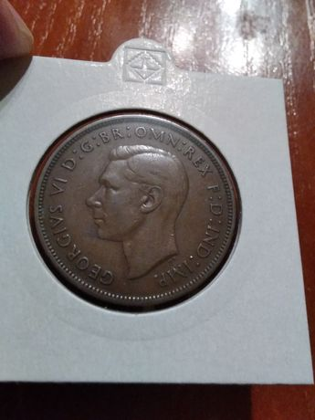 Moneta Wielka Brytania 1 pens 1937r.