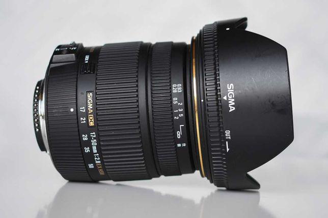 Lente Sigma 17-50mm f/2.8 EX DC OS HSM (Nikon) - Pouco uso
