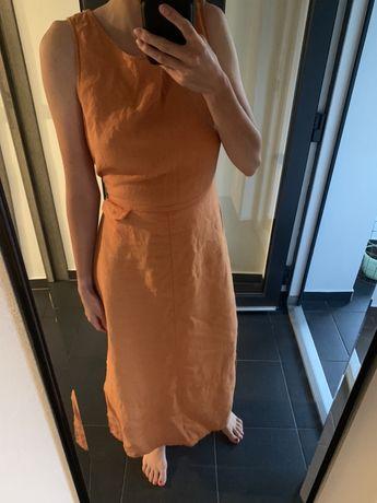 100% lniana sukienka 38 M