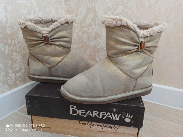 Угги Bearpaw стильные сапожки золотистые