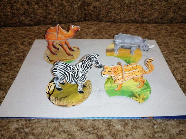 Пазлы 3д зоопарк барни