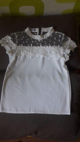Белая блузка на девочку подростка