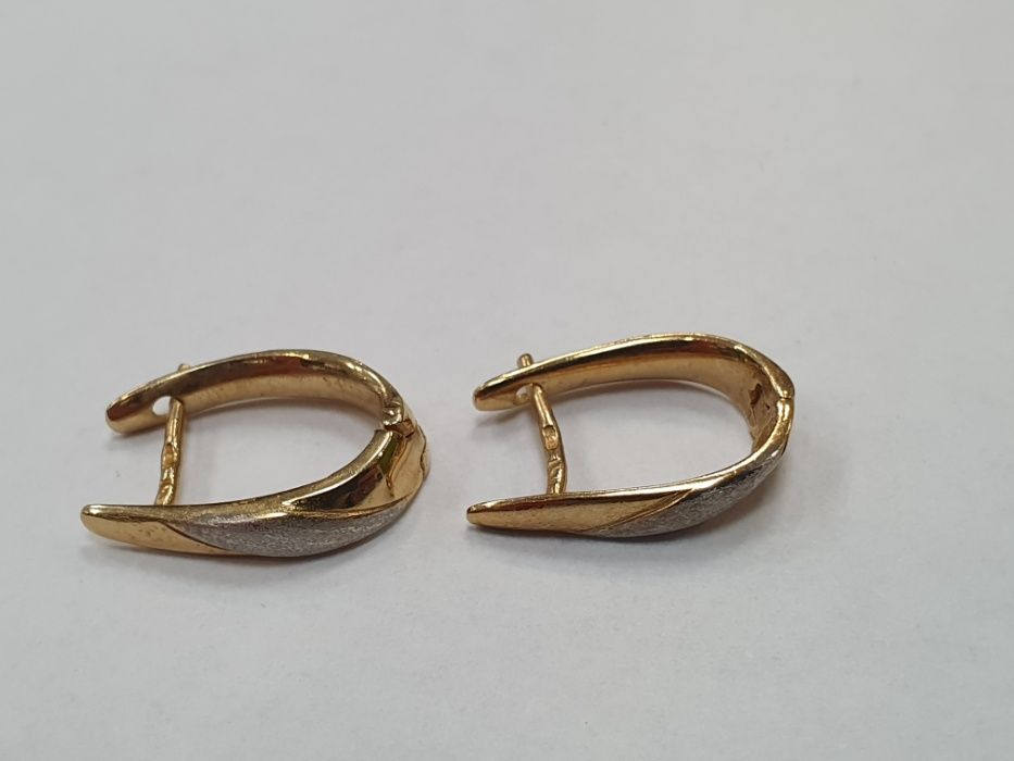 Piękne złote kolczyki damskie/ 585/ 2 kolory/ 2.46 gram/ sklep Gdynia Gdynia - image 1
