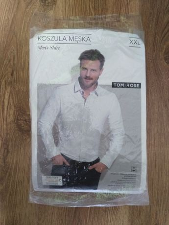 Biała Koszula męska xxl tom rose