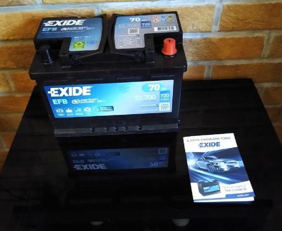 Nowy Akumulator Exide EFB 70Ah/720A Gwarancja 3lata