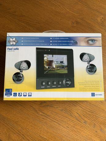 System monitorujący / Monitoring / Zestaw kolorowych kamer & monitor