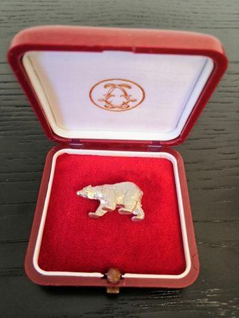 Urso Polar de coleção em prata maciça (12g)