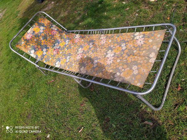 Łóżko polowe biwakowe aluminiowe składane leżak PRL