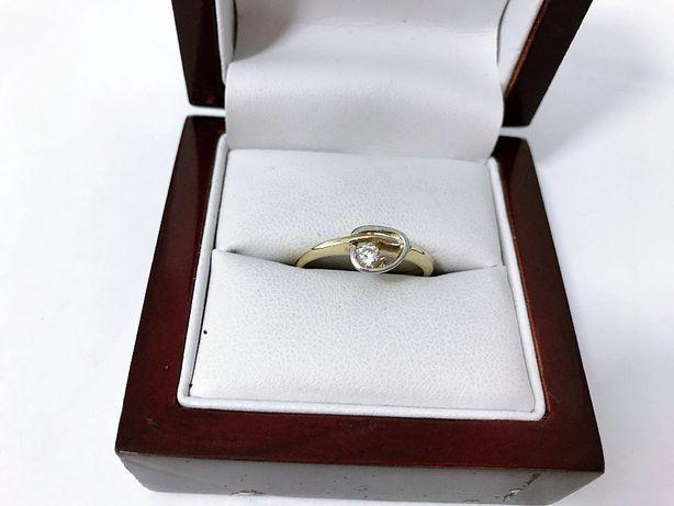 Śliczny Złoty Pierścionek z Cyrkonia 333pr 2,11g