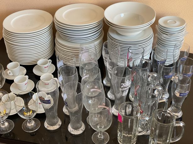 Комплект посуды для кафе ресторана паба дома дачи тарелки