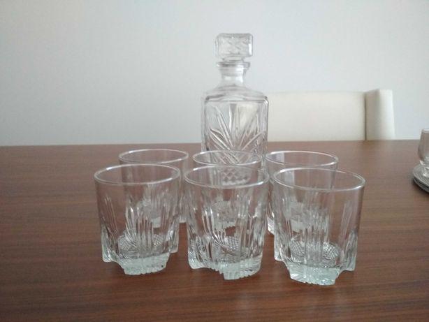 Copos de whisky + garrafa