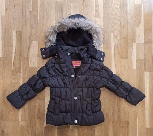 Brązowa kurtka zimowa dla dziewczynki (4 latka)
