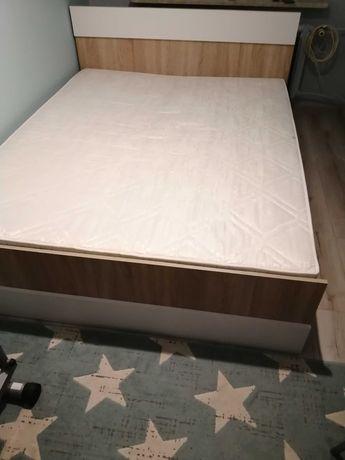 Łóżko 160x200 dąb sonoma + biały