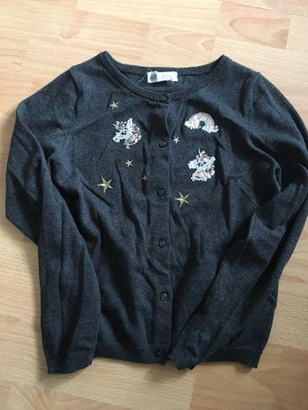 Sweterek Jednorożec H&M 134-140