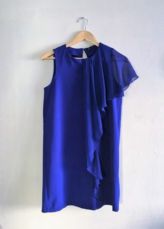 Zara chabrowa sukienka koktajlowa M 38