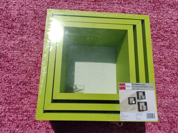 Kit de 3 cubos verde pistacho novo e embalado
