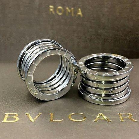 Кольцо Bvlgari Zero B1. Булгари.Внутри серебро,сверху белое золото.
