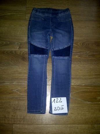 spodnie jeans dzinsy leginsy roz.122 h&m j.nowe
