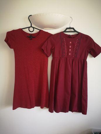 Sukienka sukienki next lupilu 128 czerwona bordo