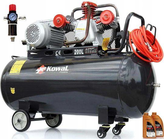 KOMPRESOR olejowy 200L 230v pompa powietrza 14 Bar