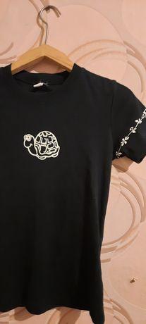 Женская футболка с принтом черепашки