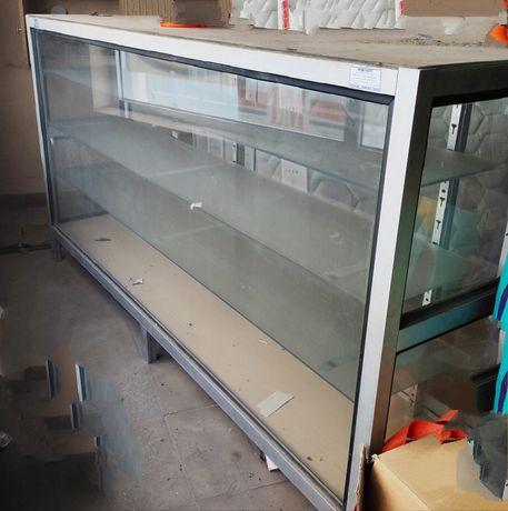 Expositor/vitrine de vidro