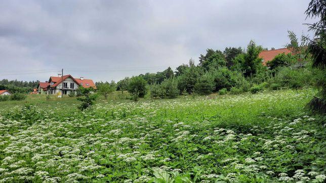 Działka budowlana na Mazurach, przy lesie  blisko jeziora , uzbrojona