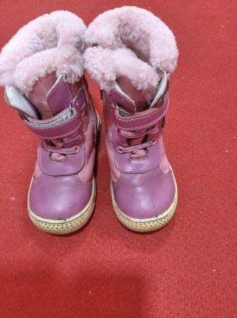 Зимние ботинки для девочки стелька 17см